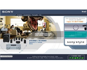 Sony - Web Design, Animação, Front-End