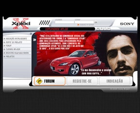 Sony Xplod - Web Design